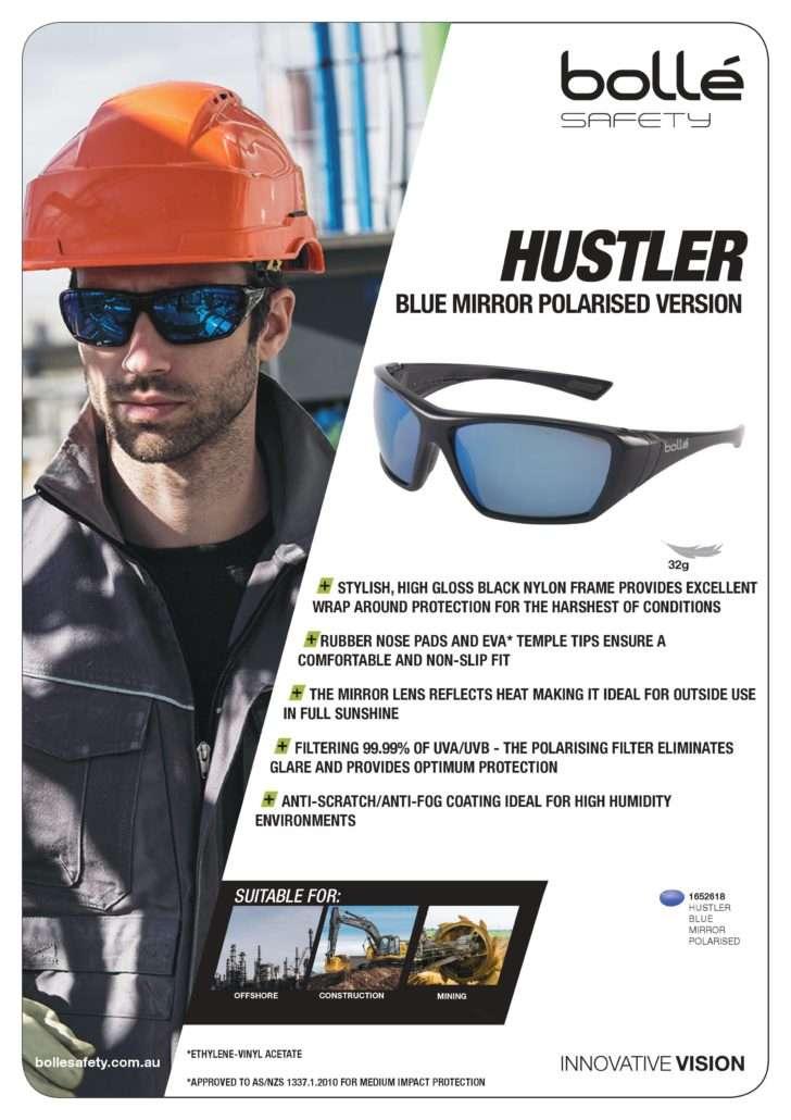 007ec71b66 All New Bolle Hustler Blue Mirror Polarised Glasses - Protecta ...